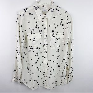Equipment 100% silk star pattern blouse